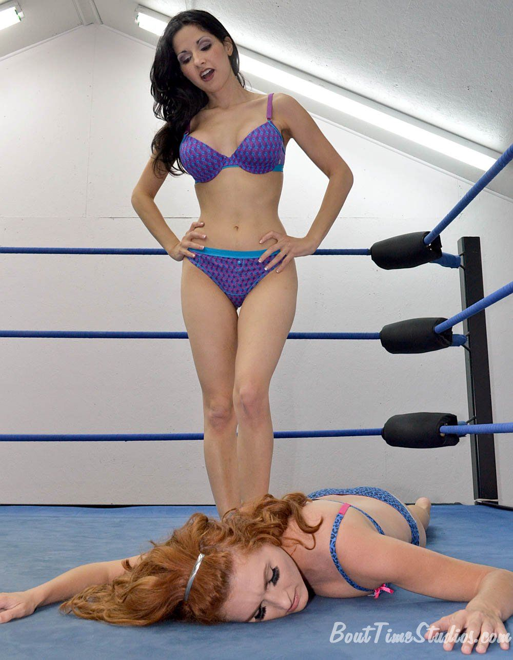 Catfight victory pose